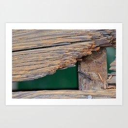 Beach Worn Pier Art Print