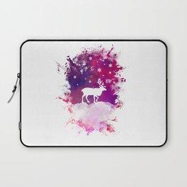Caribou winter art Laptop Sleeve
