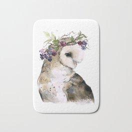 Flower Crowned Barn Owl Bath Mat