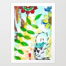 Adios caminito verde Art Print