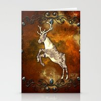 reindeer Stationery Cards featuring Reindeer by nicky2342