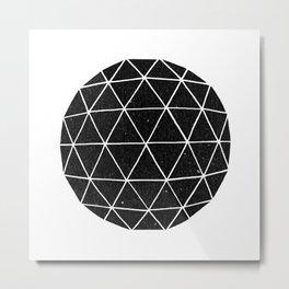 Dark Geodesic Metal Print
