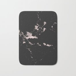 Black Marble and Blush Pink #1 #decor #art #society6 Bath Mat