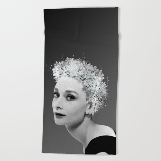 Audrey in Black Beach Towel