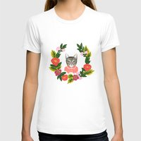 leah flores T-shirts featuring Scout con Flores by Leah Romero