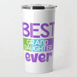 Family Tree Kinship Ancestry Household Love Bloodline Ancestors Best Granddaughter Ever Gift Travel Mug