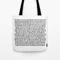 hamlet Tote Bags featuring Hamlet by ChandlerLasch