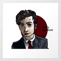 david tennant Art Prints featuring David Tennant by Izzy King