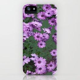 Lilac & Sage Color Purple Flowers Garden iPhone Case