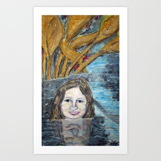 WATER FAIRY Art Print