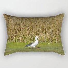 Andean goose (Chloephaga melanoptera) Rectangular Pillow