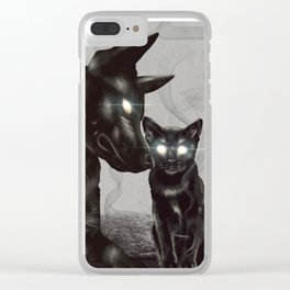The Black Cat and Dog - The Witcher Clear iPhone Case