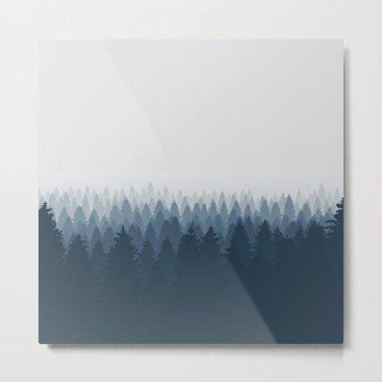 Autumn Blue mountain Metal Print