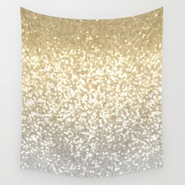 Gold and Silver Glitter Ombre Wall Tapestry