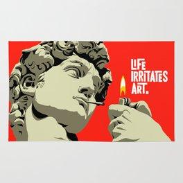 Life Irritates Art Rug