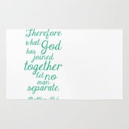 MATTHEW 19:6 Rug