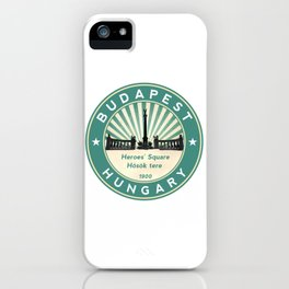 Budapest, Heroes' Square, Hosök tere, Hungary, circle, green iPhone Case