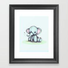 Elephant and Bee Plushie Framed Art Print
