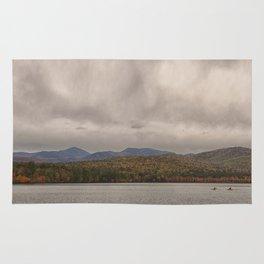 Mountains and lake Rug