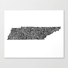 Typographic Tennessee Canvas Print