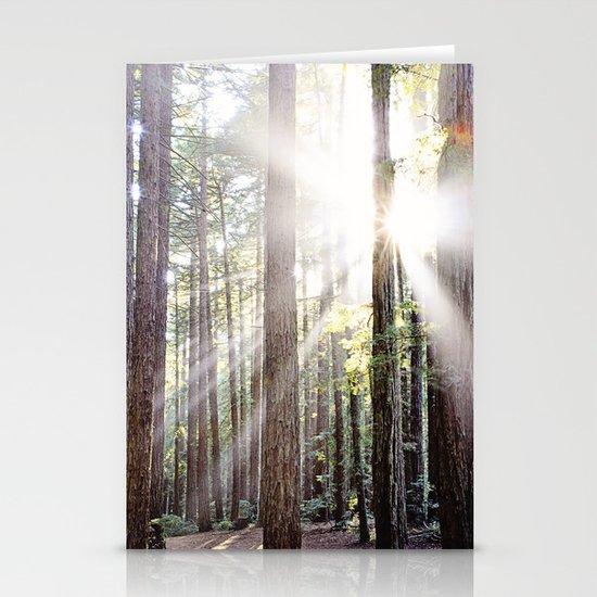 Sunburst Through the Redwoods Stationery Cards