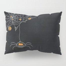 Halloween Spider on Web Pillow Sham
