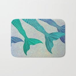 Glistening Mermaid Tails Bath Mat