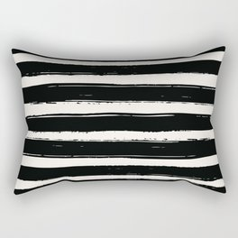 BLACK and WHITE Abstract Drawing - Mid century modern, mid-century wall art, print, geometric wall a Rectangular Pillow