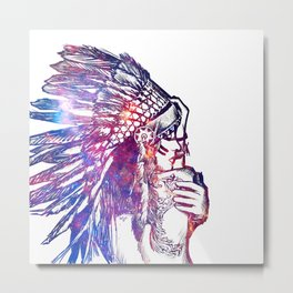 Space Indian Metal Print