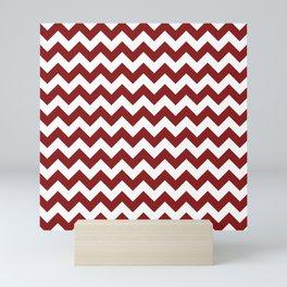 Ruby Chevron Pattern Mini Art Print