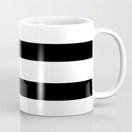 Black and White Horizontal Stripes Coffee Mug