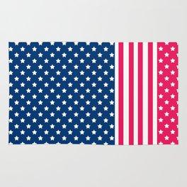 Abstract Patriotic pattern . Rug