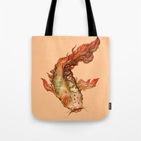 koi Tote Bags featuring Koi by S.G. DeCarlo