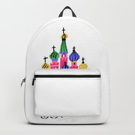 Moscow Kremlin Illustration Backpack