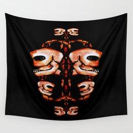 Skull Motif Ornament Wall Tapestry