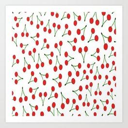 Cherry vs. Cereza Art Print