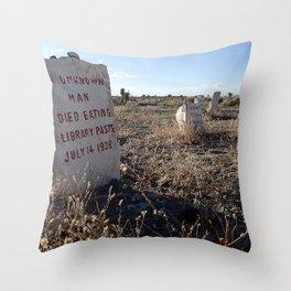Unusual headstone Throw Pillow