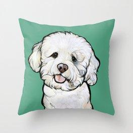 Gracie the Bichon Throw Pillow