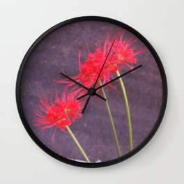 Flowers and the city Wall Clock