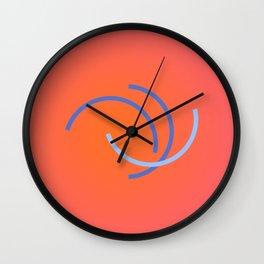 Rose encircling Wall Clock