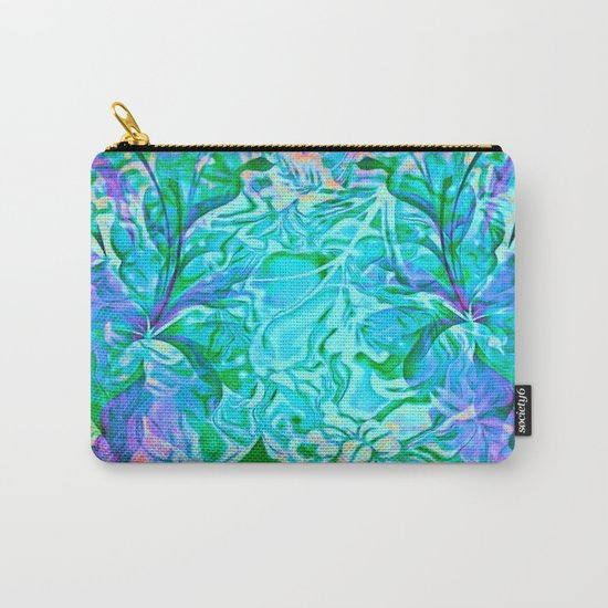 Tropical Breeze Floral Abstract Carry-All Pouch