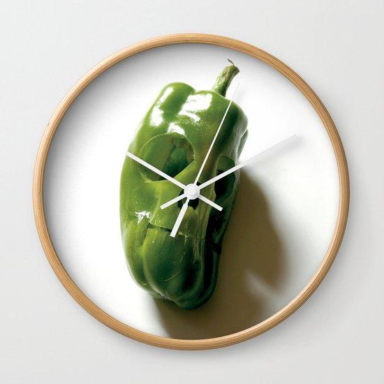 87. Bell Pepper Skull Wall Clock