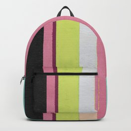 Retro Color Stripes By Hand Painting / Ver.1 Backpack