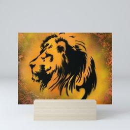 Fire Lion Mini Art Print