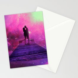 Kiss into the universe Stationery Cards