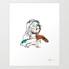 Curious / Light Art Print