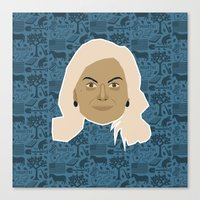 parks and recreation Canvas Prints featuring Leslie Knope - Parks and recreation by Kuki
