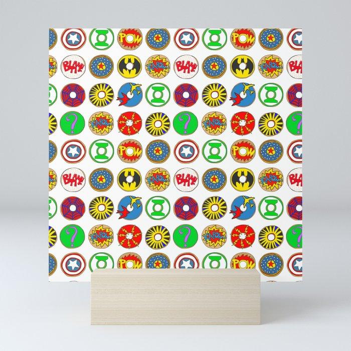 Superhero Donuts Mini Art Print