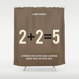 Lab No. 4 - Albert Einstein Motivational Quotes Poster Shower Curtain