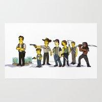the walking dead Area & Throw Rugs featuring The Walking Dead cast by Adrien ADN Noterdaem